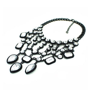 statement necklace black layered necklace edgability side view