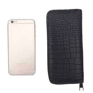 croc skin black wallet edgability size view