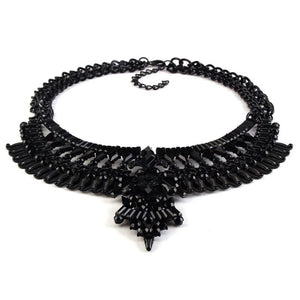 trendy black necklace statement jewelry edgability angle view