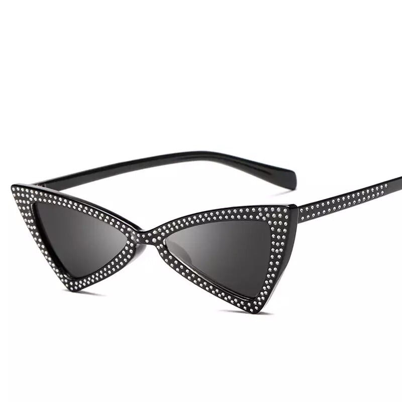 black shades sparkly sunglasses retro sunglasses edgability
