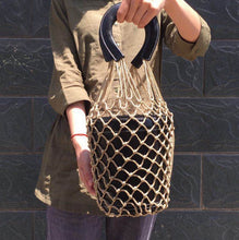 bucket bag basket drawstring bag black bag edgability model view