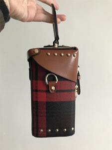 checkered studded bag box bag edgability side view