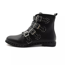 studded boots black boots edgability side view