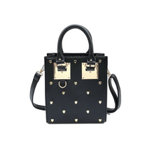 heart studded bag black bag edgability