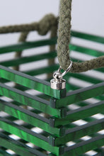 travel acrylic green bucket box bag edgability detail view
