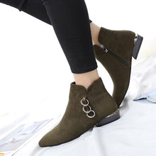 ankle boots flat boots silver cut heel edgability model view