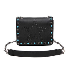 black star studded bag with rivets edgability