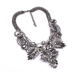 dark silver statement necklace edgy fashion edgability top view