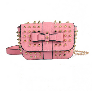 pink gold studded bag edgability