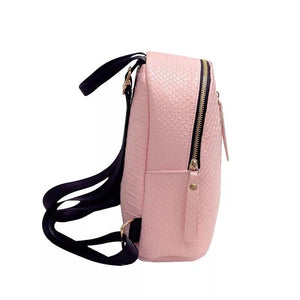 millennial pink mini backpack edgability side view