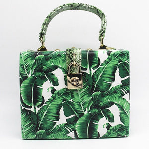 travel bag box bag tropical print edgability