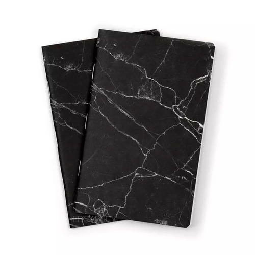black granite marble texture print notebook front view edgability