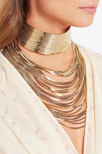 gold choker layered necklace edgability model view