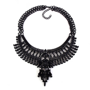 trendy black necklace statement jewelry edgability