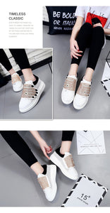 quirky embroidered white sneakers with crystals edgability detail view