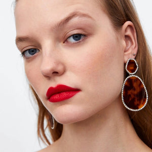 statement earrings trendy earrings chic jewelry edgability model view