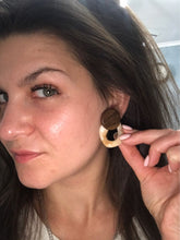 marble wood earrings edgy jewelry edgability model view