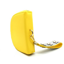 yellow sling bag and petals strap angle view edgability