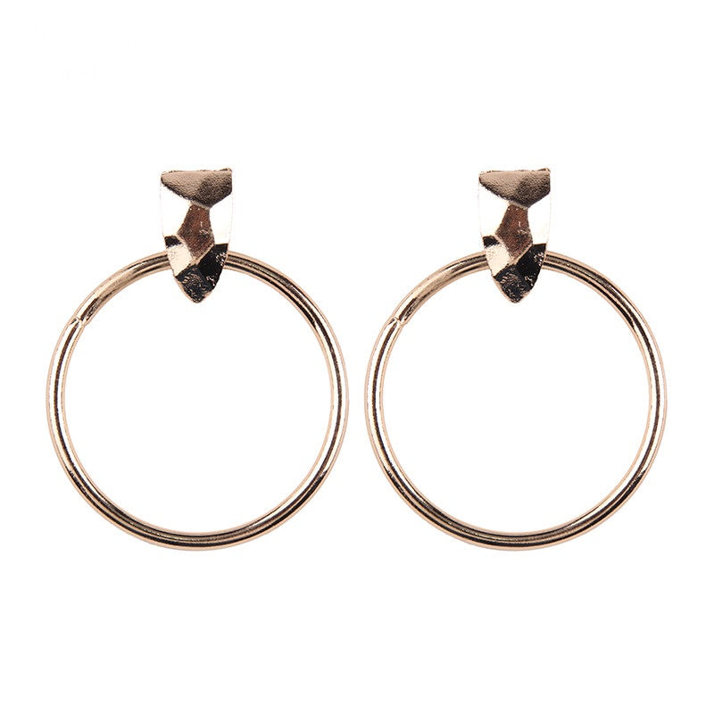 rose gold hoops statement earrings edgability