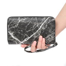 marble design trendy wallet black wallet edgability model view