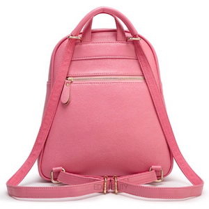 gold rivets light pink backpack back view edgability