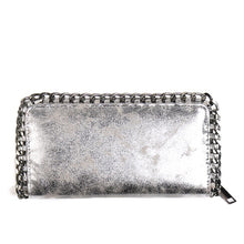 silver wallet metallic wallet with chain edgability