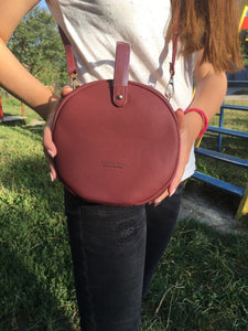 round bag sling bag red bag box bag edgability model view