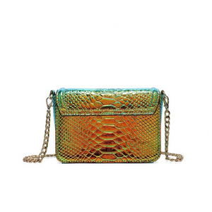 snakeskin bag chrome trendy bag edgability back view