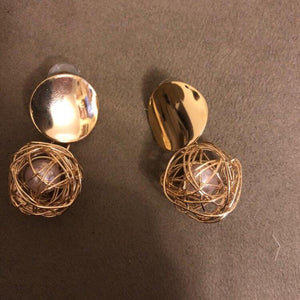 statement earrings gold earrings with pearls edgability detail view