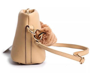 bucket bag fur bag brown bag edgability side view