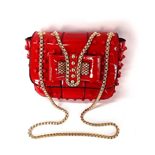 studded bag red sling bag edgability