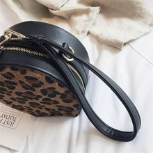 leopard print box bag round bag edgability handle view