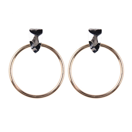 rose gold hoops silver earrings edgability