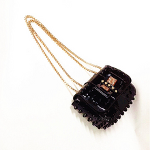 studded bag sling bag black bag edgability top view