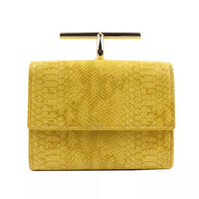 snakeskin envelope yellow clutch bag edgability