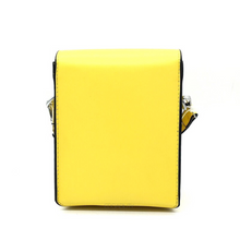 structured yellow sling bag back view edgability