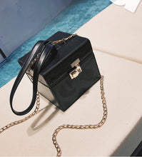 black bag box bag vintage bag edgability top view