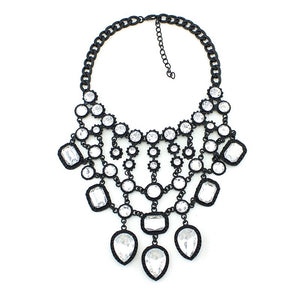 statement necklace black layered necklace edgability