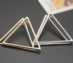 triangle earrings trendy earrings edgability front view