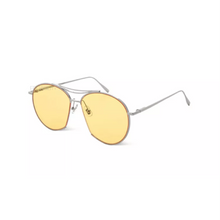 yellow vintage sunglasses angle view edgability