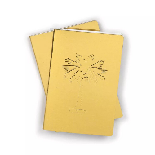 edgy golden notebook with reflective foil front view edgability