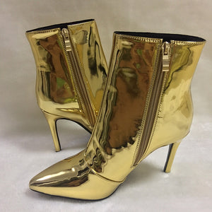 golden boots with heels edgability side view