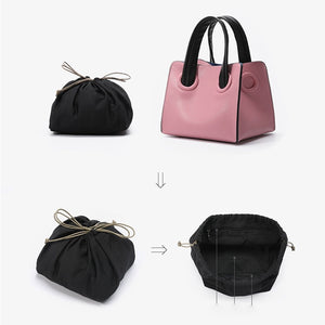 pink bag bucket bag mini bag sling bag edgability inner view