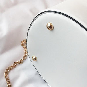 studded bag bucket bag white bag edgability bottom view