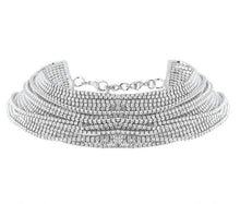 crystal layered statement necklace choker edgability full view