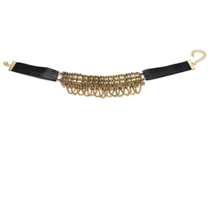 gold ethnic choker edgability front view