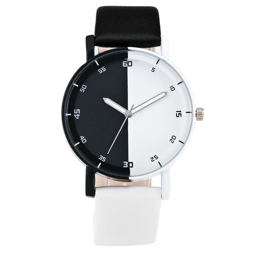 black and white watch with black white dial edgability