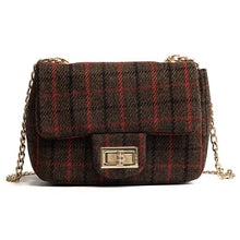 brown plaid purse edgability mini bag
