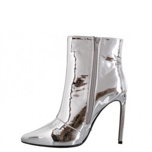 silver boots ankle boots edgability side view