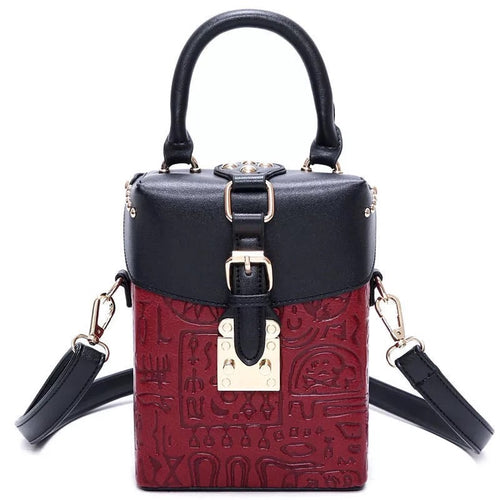 box bag tribal red bag trendy handbag edgability